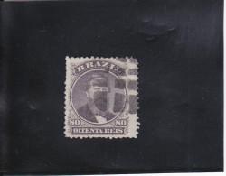 PEDRO II  80 R VIOLET-NOIR OBLITéRé N°26 A YVERT ET TELLIER 1866 - Brazil