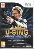 JEU WII  JOHNNY HALLYDAY U -SING - Jeux électroniques
