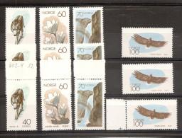 1970 Norvegia Norway ANNIVERSARIO EUROPEO NATURA  NATURE 3 Serie Di 4v. (558/61) MNH** - Protezione Dell'Ambiente & Clima
