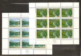 1978 Jugoslavia Yugoslavia PROTEZIONE DELLA NATURA  NATURE 9 Serie Di 2v. In 2 Foglietti MNH** 2 Minisheets - Protezione Dell'Ambiente & Clima