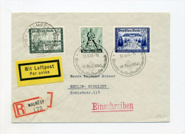 1940 3. Reich Schöner Luftpost R-Brief  Malmedy MI  710, 713 745 SST Heimkehr Ins Vaterland - Deutschland