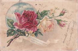 CPA Gypsophile - Charmes - Rose - Bonheur - 1904 (7286) - Flowers, Plants & Trees