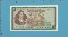 South Africa - 10 RAND - ( 1975 ) - Pick 113.c - Sign. 5 - Watermark: Jan Van Riebeek - 2 Scans - Zuid-Afrika