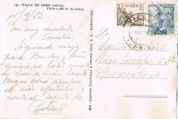 9757. Postal  VIELLA (Gerona) 1952. Vista De La Poblacion - 1931-Hoy: 2ª República - ... Juan Carlos I