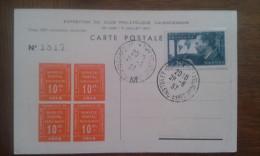 Exposition Du Club Philatélique De Valenciennes Chambre De Commerce Carte Postale Cpa - Philatelic Exhibitions