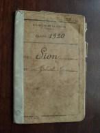 Classe 1920 - Bureau De Recrutement Lille 1933 ( SION Né 1900 Tourcoing / Details Zie Foto ) Visa 1939 / 1940 ! - Old Paper