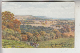 UK - ENGLAND - WEST SUSSEX - WORTHING, Highdown Hill, Künstler/Artist - A.R. Quinton - Worthing