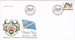 9779. Carta F.D.C. BOPHUTHATSWANA 1883. Thaba Nchu Incorporation - Bofutatsuana