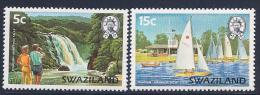 Swaziland, Scott # 378-9 MNH Waterfall & Sailboats, 1981 - Swaziland (1968-...)