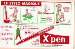 BUVARD - LE STYLO MAGIQUE - X'PEN - Fabrication WATERMAN - Papeterie