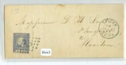 BRIEFOMSLAG Uit 1871 Van LEIDEN Naar HAARLEM *  NVPH 7 (8663) - Periode 1852-1890 (Willem III)