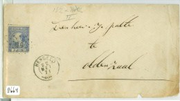 BRIEFOMSLAG Uit 1871 Van HENGELO Naar OLDENZAAL *  NVPH 7 * PUNTSTEMPEL 56 (8664) - Brieven En Documenten