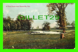 DUNNVILE, ONTARIO - A FARM SCENE WITH COWS - TRAVEL IN 1910 - PUB. BY STEDMAN BROS LTD - - Ontario