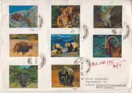 Postal History Cover: Bhutan With 8 3D Stamps, Registered To Germany, Very-very Scarce Item! - Briefmarken