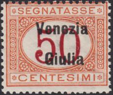 ITALIA - VENEZIA GIULIA - Tax N.6  - Cat. 625 Euro  - Con CERTIFICATO  - MNH** - Gomma Integra - POSTFRISCH - 8. Occupazione 1a Guerra
