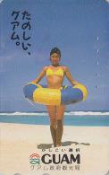 Télécarte Japon - ILE DE GUAM - Jolie Femme - Sexy BIKINI GIRL USA Rel Japan Phonecard Telefonkarte - 13 - Guam