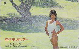 Télécarte Japon - ILE DE GUAM - Jolie Femme - Sexy BIKINI GIRL USA Rel Japan Phonecard Telefonkarte - 14 - Guam