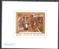 Romania 1969 Art Painting Gemalde Mi Bl.73 - MNH (**) - 1948-.... Republics