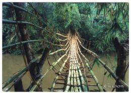 GABON - PONT DE BAMBOUS SUR LA RIVIERE OGOULOU (MIMONGO) - Gabon
