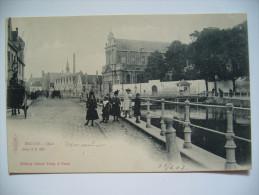 Belgium: Bruges - Quai (riverbank With People And Traffic) - Serie 11, N. 390 - Editeur Albert Sugg. A Gand, 1903 Unused - Brugge