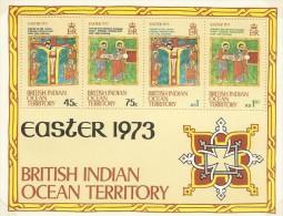 British Indian Ocean Territory 1973 Easter Miniature Sheet MNH - British Indian Ocean Territory (BIOT)