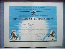 HAUTE LOIRE - AERO CLUB BRIOUDE - BREVET ELEMENTAIRE SPORTS AERIENS - VOL A VOILE - MR MAURICE BOYER - 1951 - Sports