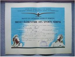 HAUTE LOIRE - AERO CLUB BRIOUDE - BREVET ELEMENTAIRE SPORTS AERIENS - VOL A VOILE - MR PAUL THONNAT - 1951 - Sports