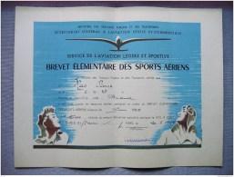 HAUTE LOIRE - AERO CLUB BRIOUDE - BREVET ELEMENTAIRE SPORTS AERIENS - VOL A VOILE - MR PIERRE MAS - 1951 - Sports