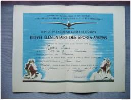 HAUTE LOIRE - AERO CLUB BRIOUDE - BREVET ELEMENTAIRE SPORTS AERIENS - VOL A VOILE - MR PIERRE MESTRE - 1951 - Sports