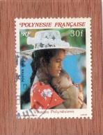 POLYNESIE  FRANCAISE  --  VISAGES  POLYNESIENS    --  **  30  F. **  -- POSTE 1987  --  BEG - French Polynesia