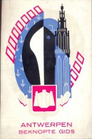 Beknopte Gids Stad Antwerpen 1958 - Met Kaart - Publiciteit Reclame - Praktisch