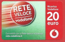 ITALIA - VODAFONE - RICARICARD - RICARICA - Rete Veloce Vodafone - SCAD. DICEMBRE  2025 - 20 EURO - Italia