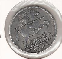 *spain 5 Centimos 1940  Km  765   Vf + - [ 4] 1939-1947 : Gobierno Nacionalista