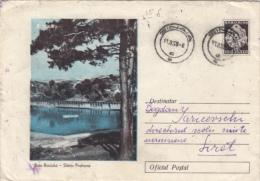 SLANIC PRAHOVA- HEALTH RESORT, LAKE, COVER STATIONERY, ENTIER POSTAL, 1958, ROMANIA - Postwaardestukken