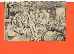 ALCOOL - La Visite Du Cellier - Pendant - (humour) - Cartes Postales
