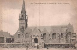 29 PLEYBER CHRIST ENSEMBLE DE L'EGLISE L'OSSUAIRE CIRCULEE 1908 - Autres Communes
