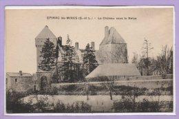 71 - EPINAC Les MINES -- Le Chateau Sous La Neige - Autres Communes