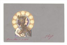 Carte Postale ART NOUVEAU - Femme De Profil (Y306)b147 - Schilderijen