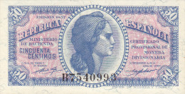 50 CTS  HACIENDA MADRID  1937 - [ 5] Department Of Finance Issues
