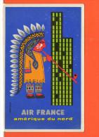 Affiche - Publicité - AIR FRANCE Amérique Du NORD - Werbepostkarten