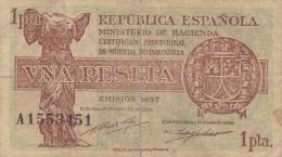 1 PTS  HACIENDA MADRID  1937 - [ 5] Emissioni Ministero Delle Finanze