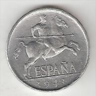 *spain 5 Centimos 1941  Km  765   Xf +  !!!!! - [ 4] 1939-1947 : Gobierno Nacionalista
