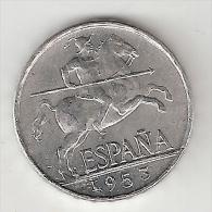 *spain 5 Centimos 1953 Rare !!!!  Km  765   Xf   !!!!!catalog Val 45$ - [ 4] 1939-1947 : Gobierno Nacionalista