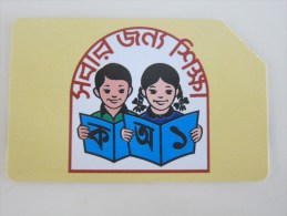 Urmet Magnetic Phonecard,BAN-05 Children Reading The Book,used - Bangladesh
