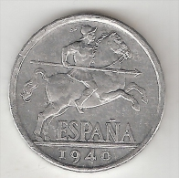 *spain 10 Centimos 1940  Plus !!!!  Km  766   Xf   !!!!! Look !!!! - [ 4] 1939-1947 : Nationalist Government