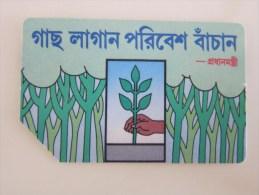 Urmet Magnetic Phonecard,BAN-03 Planting A Tree,used - Bangladesh