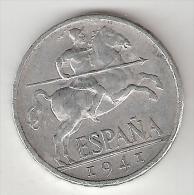 Spain 10 Centimos 1941  Plus !!!!  Km  766   Vf+ - [ 4] 1939-1947 : Nationalist Government