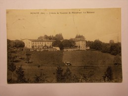 Carte Postale - PONCIN (01) - Colonie De Vacances De Menestrel - Le Bâtiment - Obliteration Ondule (18&19B/430) - Otros Municipios