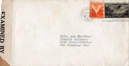 Cuba 1944 Censored Cover Mailed To USA - Cartas