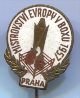 BOXING - Box, European Championship In Boxing, Praha, 1957. Enamel, Old Pin, Badge - Boxing